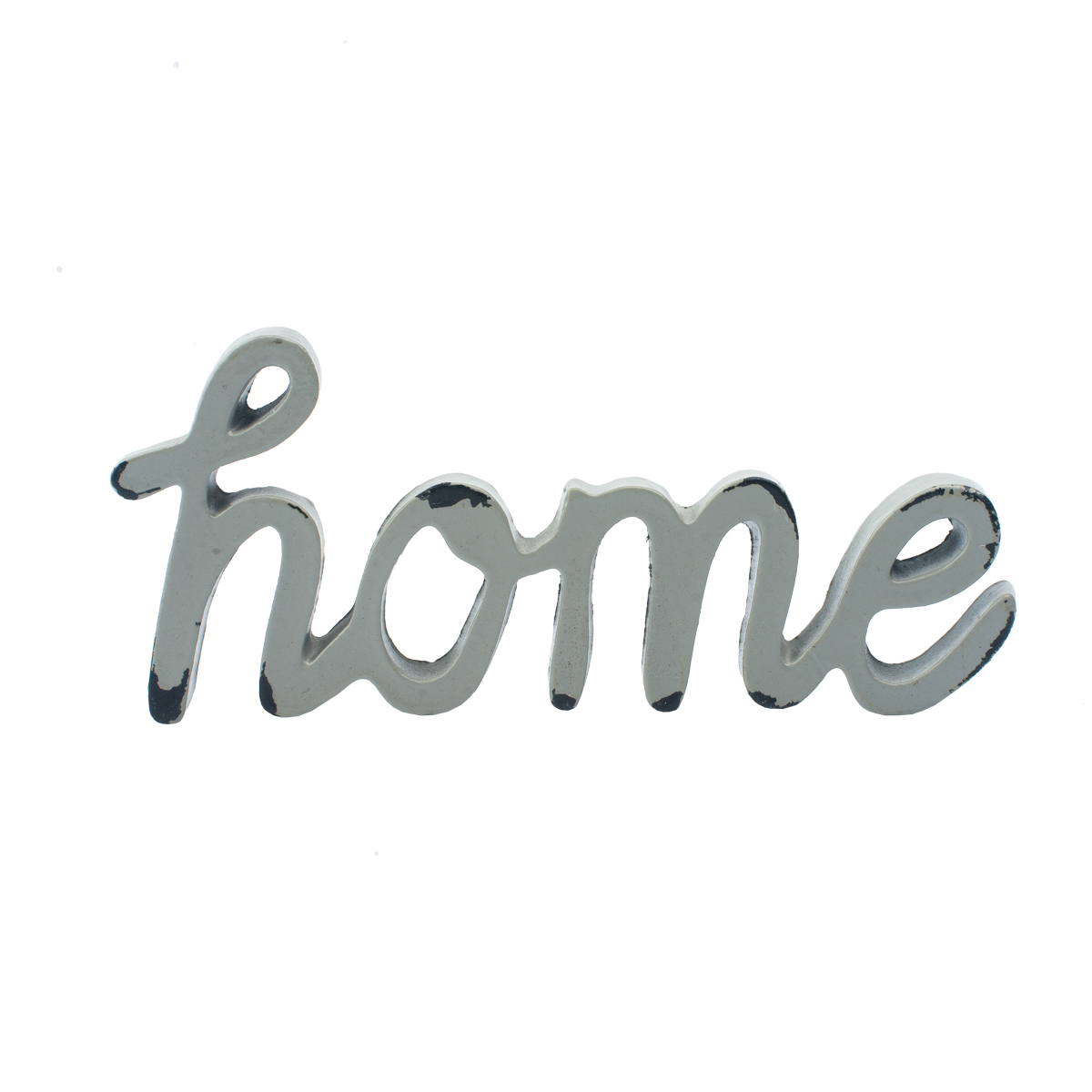 LETTERING, METAL HANDWRITTING HOME BEGE 12,7 X 1 X 5,5 CM