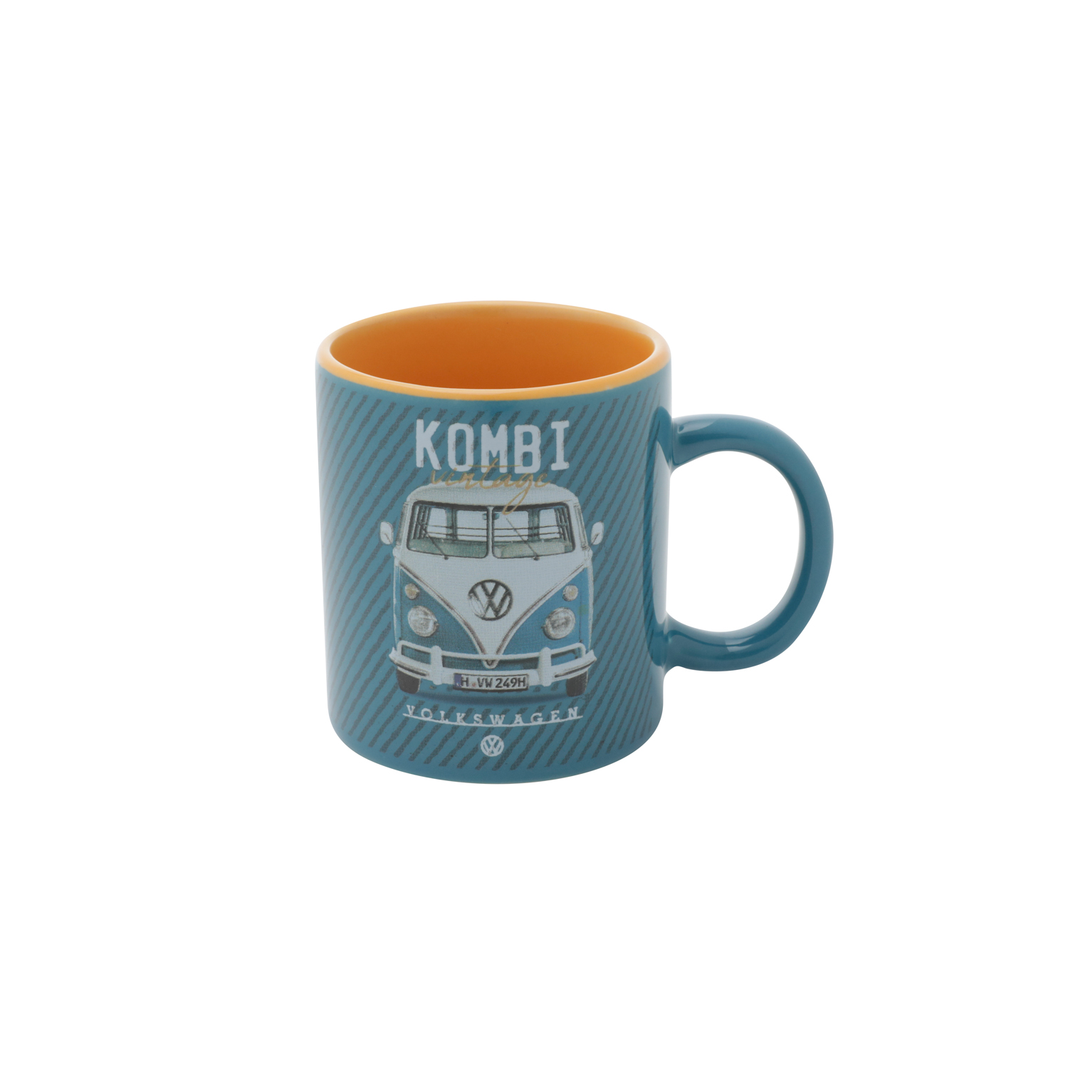 MINI CANECA PORCELANA VW KOMBI CLASSIC BLUE AZUL 6,7x6,7x7,3 cm - 140ml