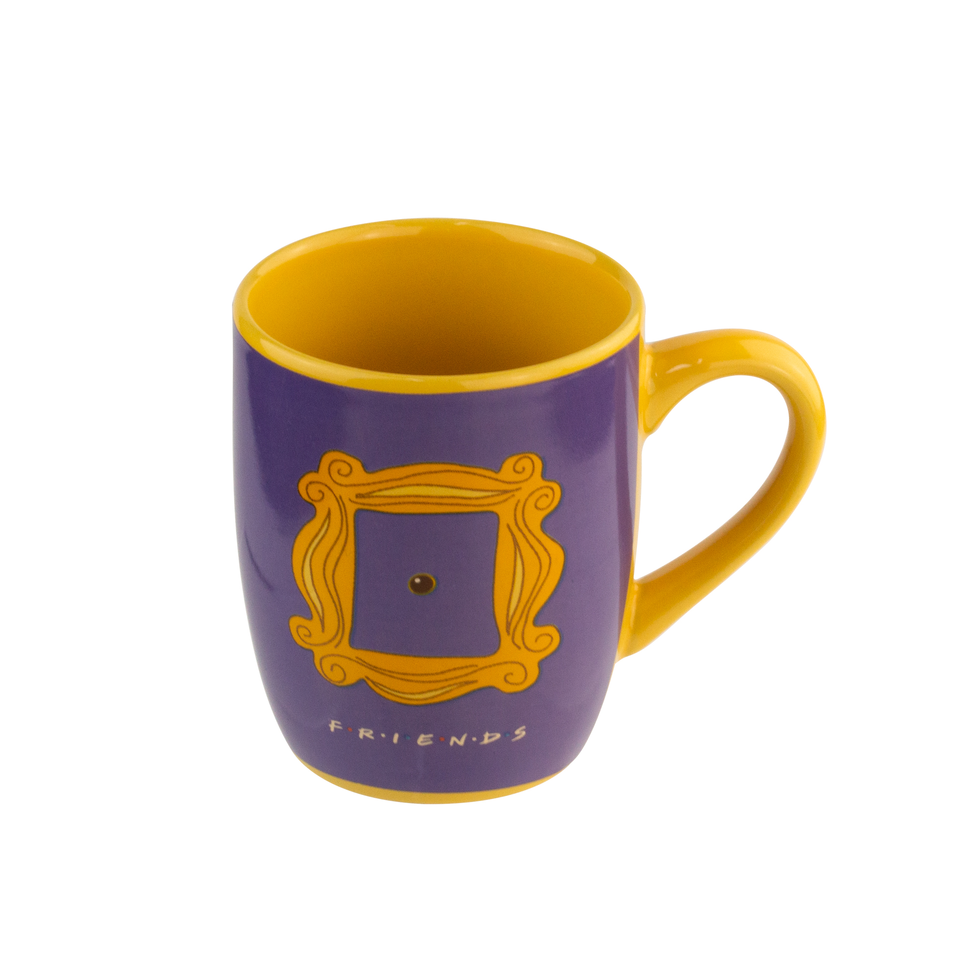 CANECA PORCELANA ELEGANT WB FRIENDS CLASSIC DOOR ROXO 8,2x6,2x10,2 cm - 350ml