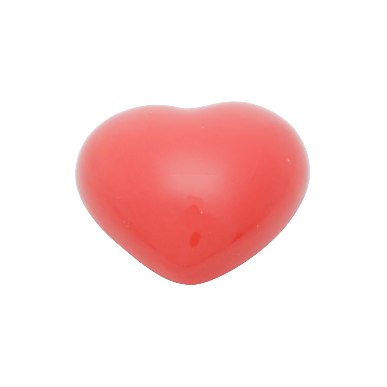 MINI DECOR PORCELANA HEART FULL OF LOVE VERMELHO 3,7x3,2X1,5 cm