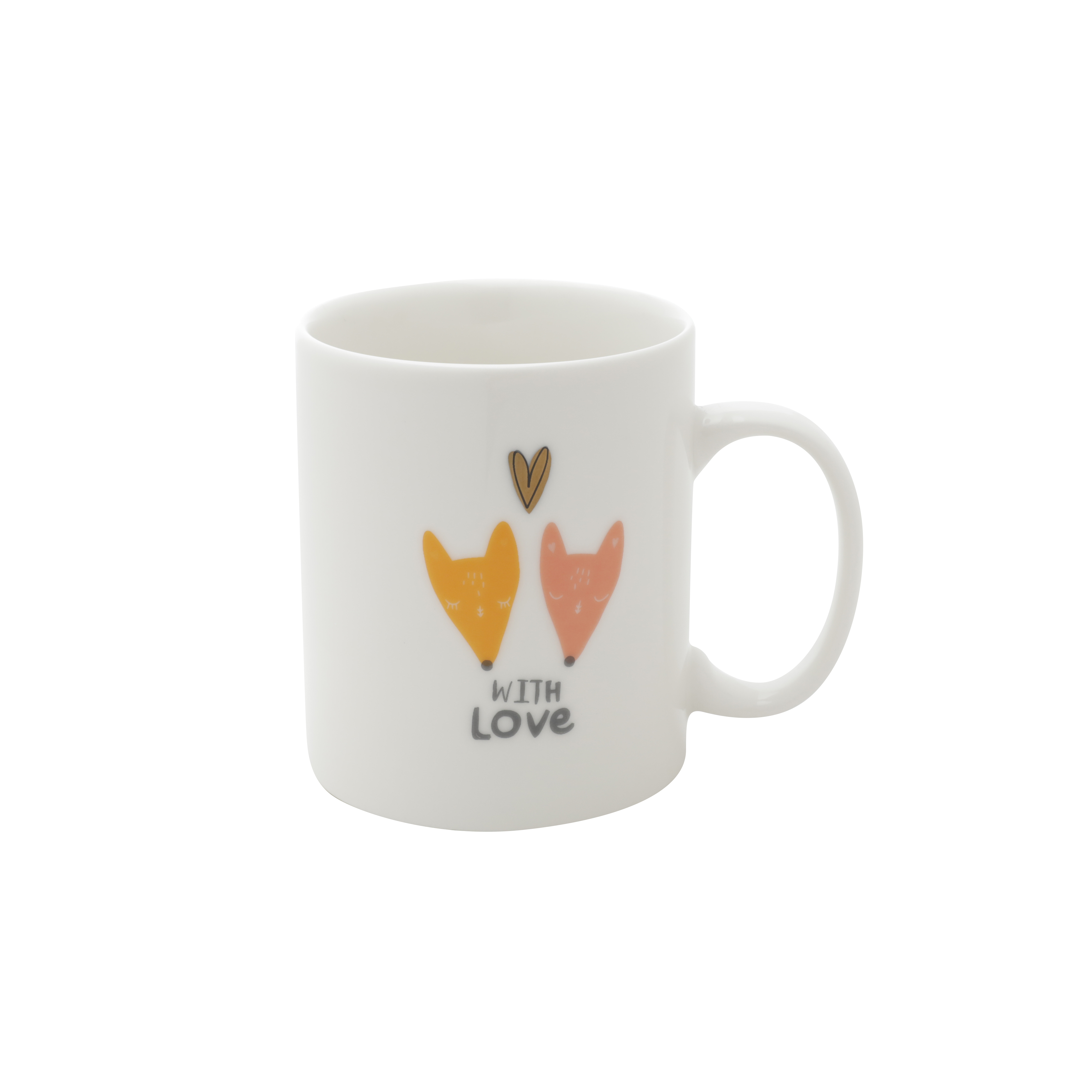 CANECA PORCELANA JUST LOVE YOU BRANCO 8,2X5,3X10,6 cm - 350ml
