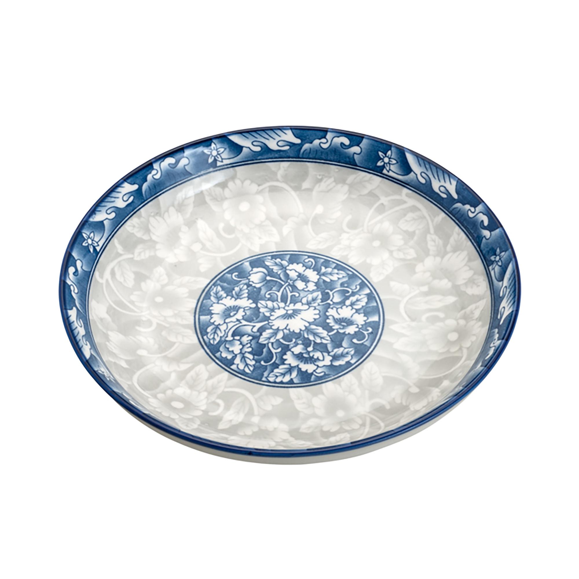PRATO FUNDO DE PORCELANA BLUE GARDEN COUPE 18cm