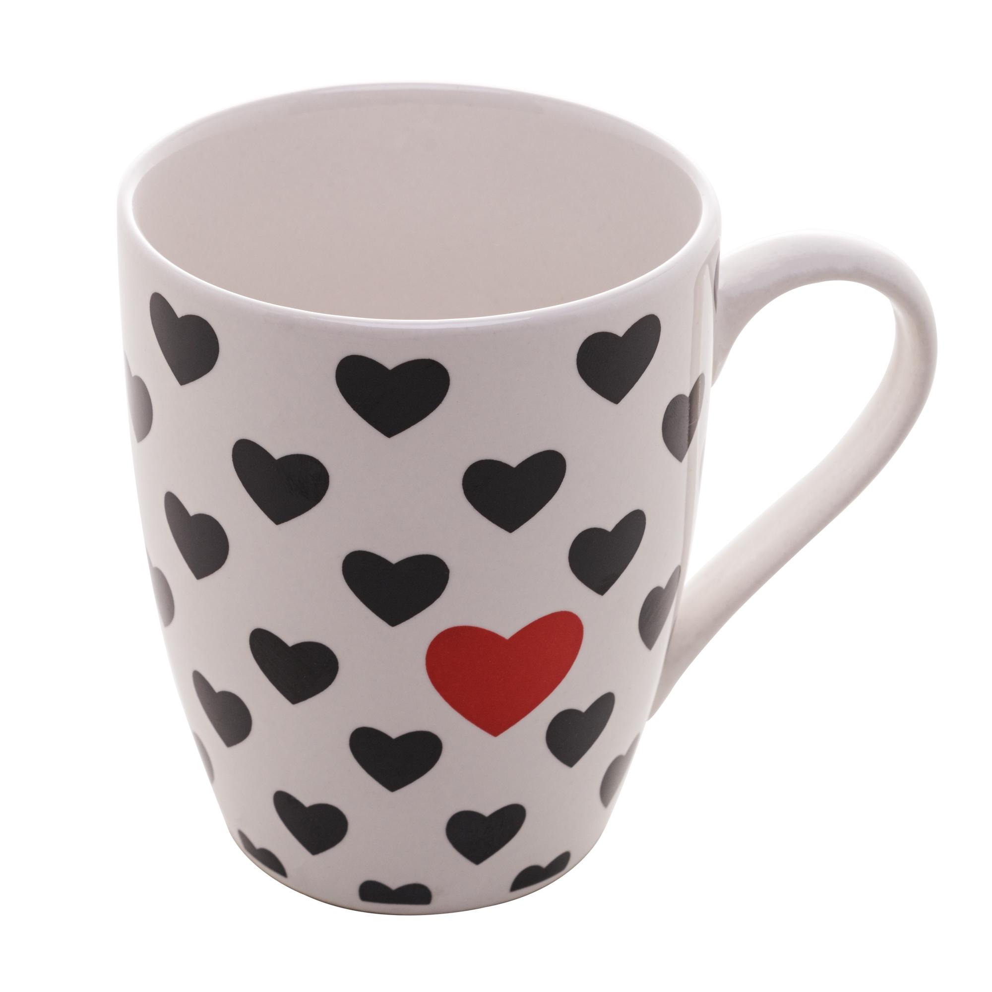 CANECA DE PORCELANA HEART WITH LOVE 350ml